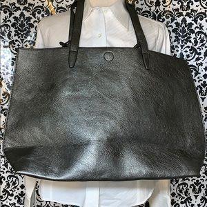 Handbags - Large Pewter Satchel tote bag